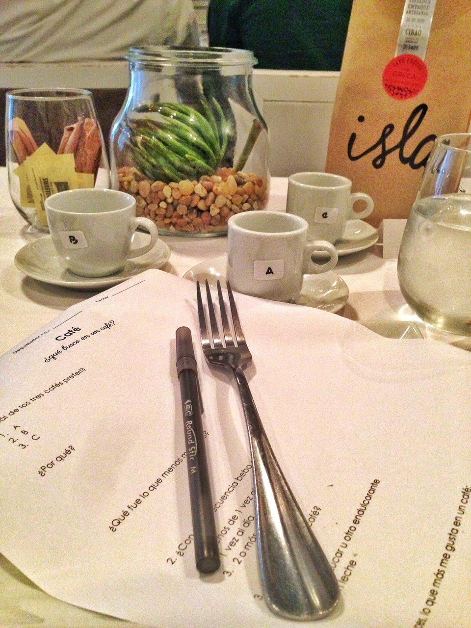 Taller de maridaje de café con La gente de la isla