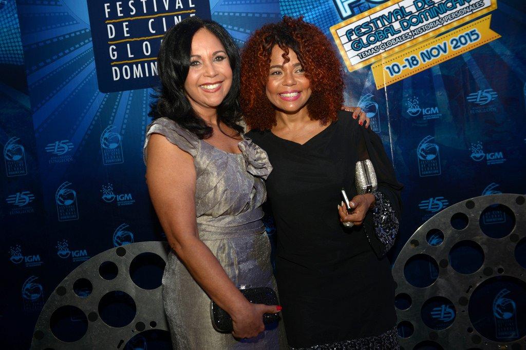Adalgisa Pantaleón y Cheddy García. Fotos por: Festival de Cine Global Dominicano