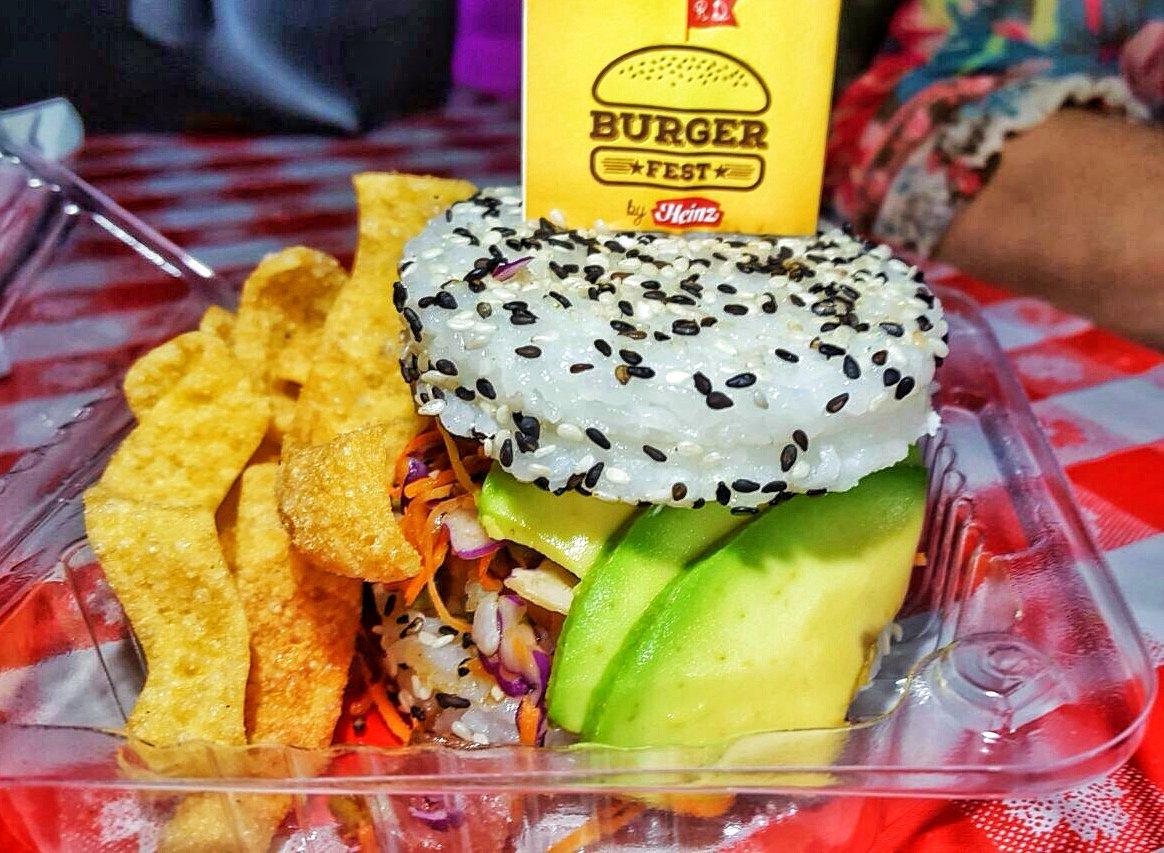Sushi- burger en Buger Fest RD