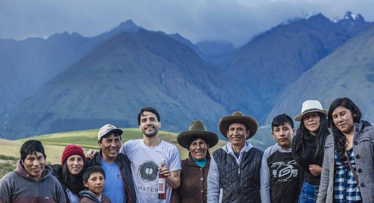 Chef Virgilio junto a productores peruanos