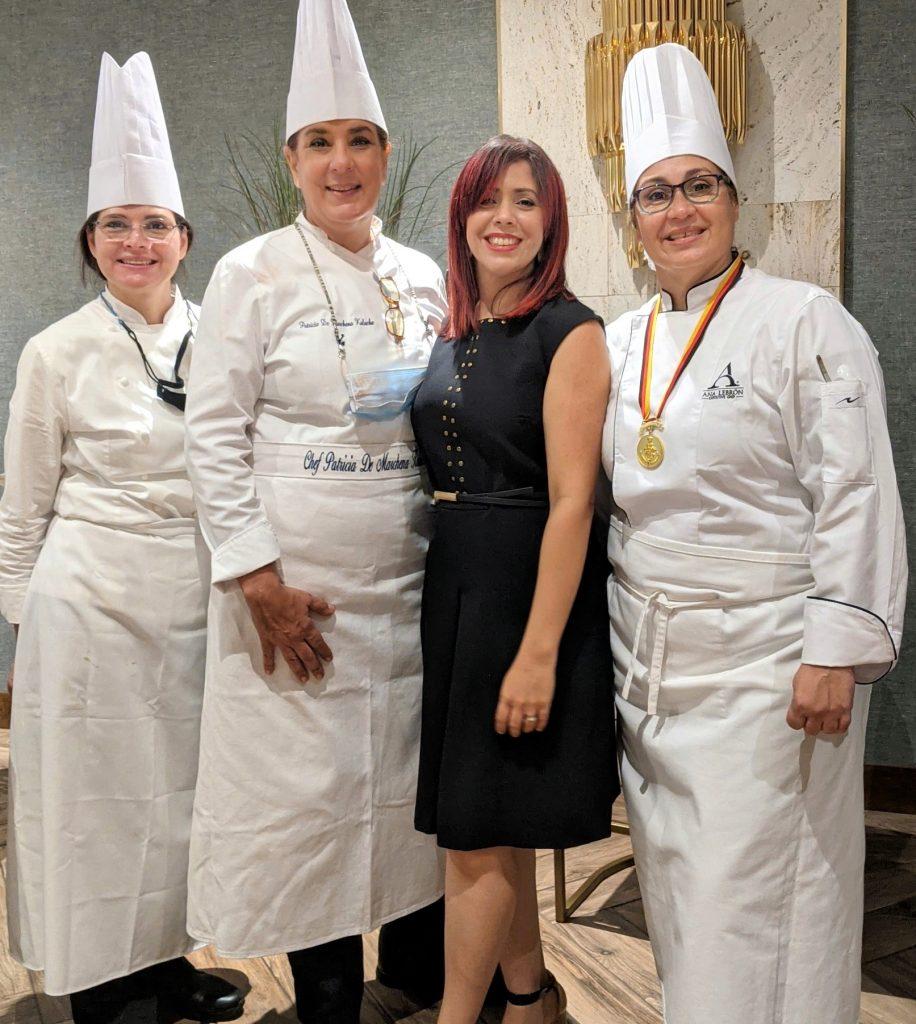 Laura Rizek, Patricia de Marchena, Elaine Hernández y Ana Lebrón