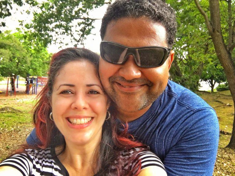 Juan Conde mi esposo y yo felices de estar juntos siempre