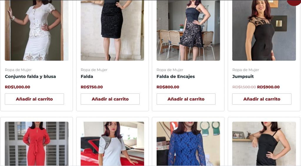 Galería de fotos tienda Elaine Hernández